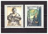 S24947) Italy MNH 1986 Painting 2v Casorati - A.Del Tailor