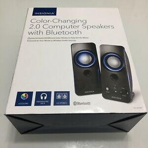 Insignia Color Changing 2.0 Computer Speakers w/ Bluetooth NS-2810BT