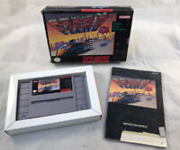 F-Zero Complete w/ Manual (Super Nintendo, 1991) Cleaned & Tested Works Great