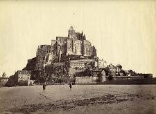 Photo Albuminé Mont Saint Michel Vers 1880