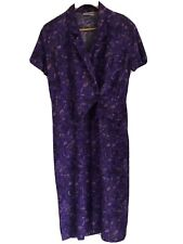 Vintage 1980 Joni Blair purple dress size 9