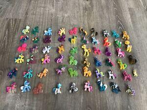 My little pony mini figure Huge lot of 58 varieties Mixed