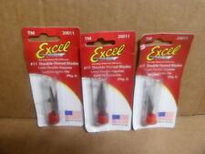 (15 Pack) New Set of 3 Five Packs of Excel Super Sharp Edge Blades 20011