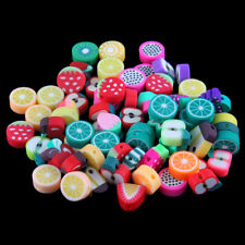50Pc Mixed Cute Apple/Orange/Grape Polymer Clay Loose Charm Beads DIY Craft