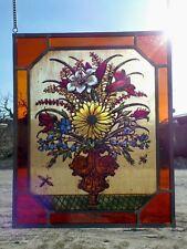 """verre au plomb Image de la fenêtre Bernhardt peinture sur """" Bouquet d'été """""""