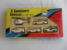 1980's Die Cast Metal 5 Piece Emergency Vehicles Set New in Box