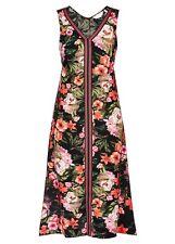 Botanical Tribal Beach holiday spring summer dress hanky hem 16 NEW V neck