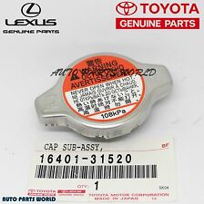 NEW GENUINE TOYOTA LEXUS SCION OEM RADIATOR CAP SUB ASSEMBLY 16401-31520