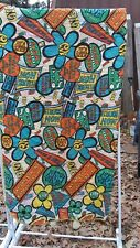 Vintage 1970's Child's Sleeping Bag Retro Groovy Fabric Hippie Slang-WOW-(G9)