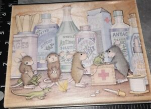 House mouse, pet clinic, ,stampabilities,,B75,rubber,wood