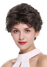 PERRUQUE pour femme court léger ondulé gris Gris Noir dw2339-823