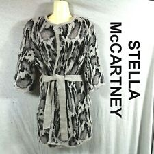 Stella McCartney Alpaca Blend Knit Cardigan Sweater SS Animal Print IT-40 US 6