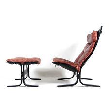 1 de 2 rétro vintage en cuir d'Ingmar Relling Siesta Chaise Fauteuil repose-pieds 70 s