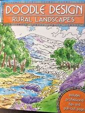 DOODLE DESIGN RURAL LANDSCAPES ~ Quality Adult colouring book paperback