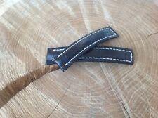 Breitling Watch Strap 20x18mm HANDMADE Black Alligator + Deployment clasp