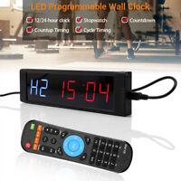 Programmierbare Digital LED-Intervall-Timer Stoppuhr Fitnessstudio Crossfit Trai