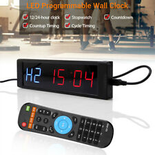 Programmable LED Interval Timer Stopwatch Training Digital Fitness Crossfit Gym