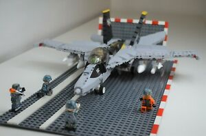 Boeing F/A-18  aircraft MOC US Navy brick Bloodhounds VX-30 minifig scale custom