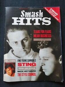 Smash Hits Magazine 19th June 1985 Tears For Fears/FYC/Sting