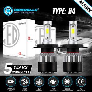 6500K H4 LED Headlight Bulbs Globes For Holden Commodore HSV SS VR VS VT VX VY