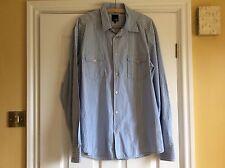 Mens Jack And Jones, Blue Striped Shirt. Xl