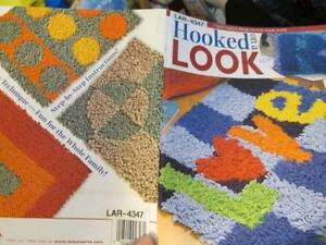 Hooked On A Look Fleece Craft Booklet-7 Designs-Rugs/Pillows, Leisure Arts, Pape