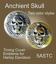 Harley Timing Cover, Helmet and Saddlebag Medallion Skull Face Zambini Bros MFA