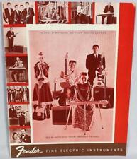 Fender 1960 Downbeat Insert 6 Page Guitar Catalog Reprint P/N 0995503008