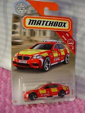 2018 Matchbox #68 BMW M5☆red; FIRE department☆MBX RESCUE☆☆case H