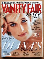 VANITY FAIR SEP 2013 PRINCESS DIANA BEST DRESSED LIST DITA VON TEESE MICHAEL KOR