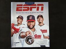 ESPN The Magazine 10/2/17 Francisco Lindor Carlos Santana Carlos Carrasco