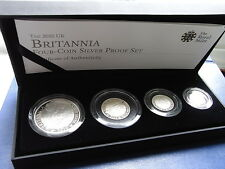 Britannia Collection of 4 coin 2010 Silver Proof Set with issue certificate
