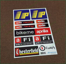 aprilia Racing Motorcycle Laminated Decals Sticker ip F1 Chesterfield Fuera Set