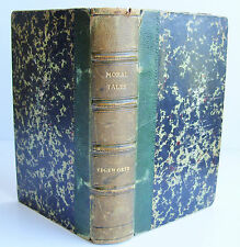 1846 MORAL TALES complete in one volume Maria Edgeworth Simkins Marshall VGC HB
