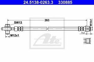 Flexible de frein AUDI A4 (8E2, B6) A4 (8EC, B7) A4  (8EC, B7) A4 Avant (8E5, B6