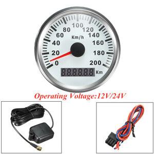 12V / 24V Car Truck Instrument GPS Speedometer Speed Odometer