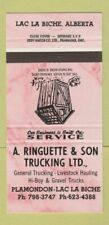 Matchbook Cover - A Ringuette Trucking Plamondon Lac La Biche AB 30 Strike