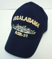 USS Alabama ASR-21 Mens Blue Baseball Hat Cap Adjustable Embroidered EUC
