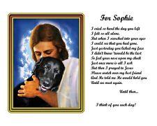 Black Labrador Retriever Dog Memorial Picture-w/Jesus Personalized w/Pet's Name2