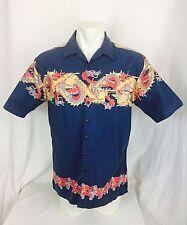 Dragons Motif Hawaiin Camp Shirt. Men's. Large. Very Good.
