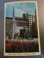 Postcard Christ Church Episcopal Indianapolis Indiana Postcard 188-1