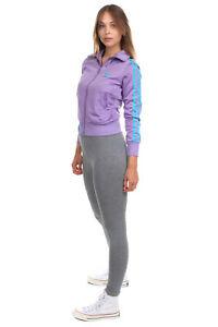 ADIDAS Sweatshirt Size 40 / M Logo Sides Straps Full Zip Stand Up Collar
