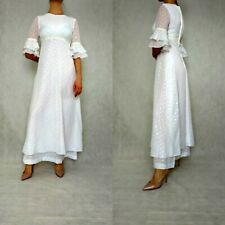 Vintage Very Small Wedding Gown Polka Dot Super Muoti Dress Boho Hippie Wedding