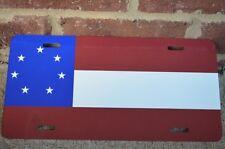 New Civil War 1st National Confederate 7 Star Flag Metal License Plate