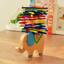 Educational Elephant with Sticks Balancing Blocks Wooden Toys Beech Wood Game