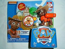 "Nickelodeon Paw Patrol Cowboy Zuma Action Pack Pup ""NEW"""