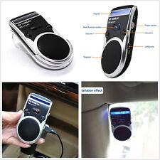 Solar Powered Speakerphone Wireless Bluetooth Handsfree Car Kit LCD Display USB