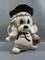 vintage kitsch large cookie jar dog with hat retro ceramic biscuit jar storage