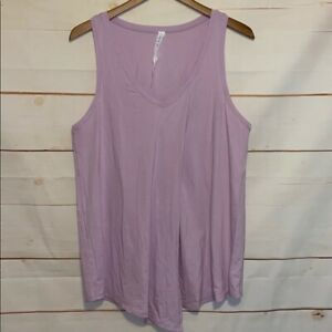 Women's LULULEMON Athletic Tank Top Activewear V Neck Shirt Purple Lavender 12