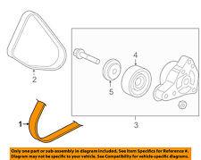 HONDA OEM 03-07 Accord-A/C AC Serpentine Belt 38920RAAA03